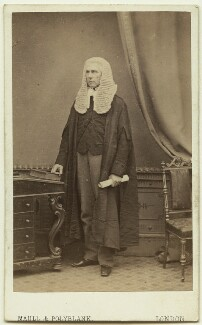 Roundell Palmer, 1st Earl of Selborne, by Maull & Polyblank - NPG Ax8558
