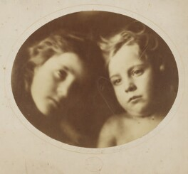 'Cherub and Seraph' (William Frederick Gould; Elizabeth Keown), by Julia Margaret Cameron - NPG x18006