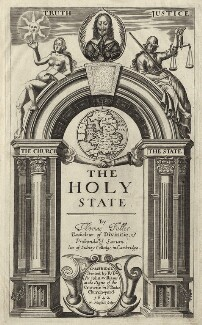 King Charles I in title page to Thomas Fuller's ''The Holy State'', by William Marshall - NPG D26378