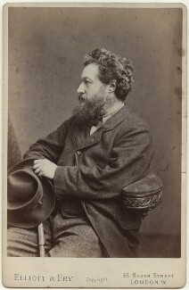 William Morris, by Elliott & Fry, 21 March 1877 - NPG x3725 - © National Portrait Gallery, London