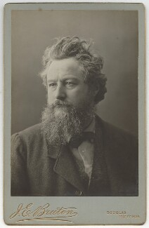William Morris, by Abel Lewis, printed by  James Edward Bruton (Brunton) - NPG x3722