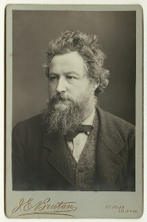 William Morris, by Abel Lewis, printed by  James Edward Bruton (Brunton) - NPG x3723