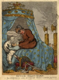 Dutch Night-Mare: Or the Fraternal Hug Returned With a Dutch Squeese (Napoléon Bonaparte), by Thomas Rowlandson - NPG D9079