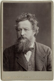 William Morris, by Abel Lewis, printed by  James Edward Bruton (Brunton) - NPG x3726