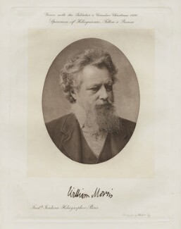 William Morris, by Frederick John Jenkins, after  Elliott & Fry - NPG x3752