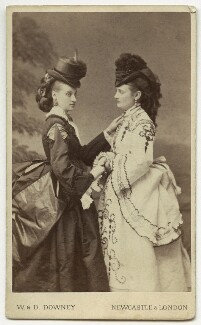 Fannie (née Heriot), Lady Wentworth; possibly Maria Colclough Turner (née Heriot, later Blyth), by W. & D. Downey - NPG x32959