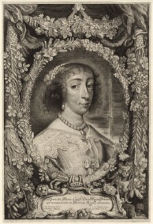 Henrietta Maria, by Jonas Suyderhoef, after  Sir Anthony van Dyck - NPG D26391