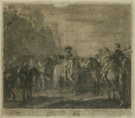 King Charles I in conversation with John Hotham at the Gates of Hull, possibly by Nicholas Henri Tardieu, possibly after  Charles Parrocel - NPG D26393