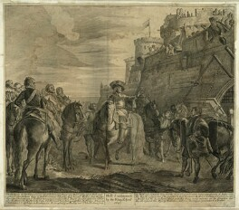 King Charles I in conversation with John Hotham at the Gates of Hull, after Unknown artist - NPG D26394