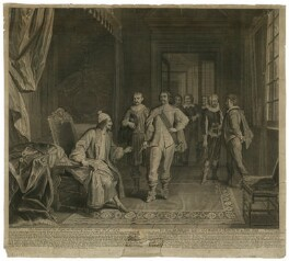 King Charles I seized at Holmby House by George Joyce, by Nicolas Gabriel Depuis, after  Peter Angelis - NPG D26395