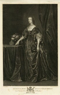 Henrietta Maria, by Pieter Stevens van Gunst, after  Sir Anthony van Dyck - NPG D26398