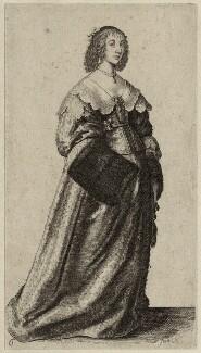 Henrietta Maria, by Wenceslaus Hollar - NPG D26401