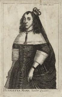 Henrietta Maria, published by Robert Walton, mid 17th century - NPG D26406 - © National Portrait Gallery, London