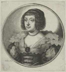 Henrietta Maria, by Wenceslaus Hollar - NPG D26410