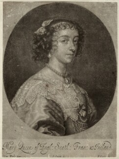 Henrietta Maria, by John Smith, published by  Edward Cooper, after  Sir Anthony van Dyck - NPG D26412