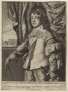 King Charles II, by Wenceslaus Hollar, after  Sir Anthony van Dyck - NPG D26416