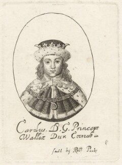 King Charles II, possibly by William Faithorne, published by  Sir Robert Peake - NPG D26427