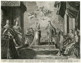 The Betrothal of the Princess Mary to William, Prince of Orange, by Renier Persyn, mid 17th century - NPG D26430 - © National Portrait Gallery, London