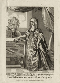 Mary, Princess Royal and Princess of Orange, published by William Richardson, after  Wenceslaus Hollar - NPG D26435
