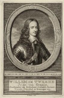 William II of Orange-Nassau, by Jacobus Houbraken, after  Gerrit van Honthorst - NPG D26436