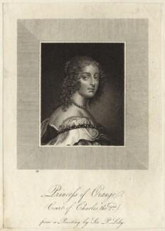 Mary, Princess Royal and Princess of Orange, after Sir Peter Lely - NPG D26439
