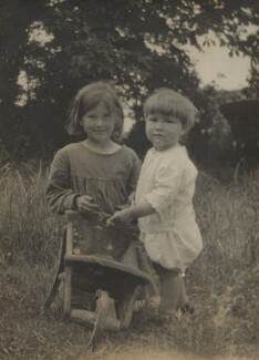 Barbara Strachey (Hultin, later Halpern); Christopher Strachey, by Unknown photographer, Spring 1918 - NPG x13106 - © National Portrait Gallery, London