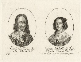 King Charles I and Henrietta Maria, by George Glover, mid 17th century - NPG D26446 - © National Portrait Gallery, London