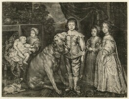 Progeny of Charles I, published by Edward Cooper, after  Sir Anthony van Dyck - NPG D26448