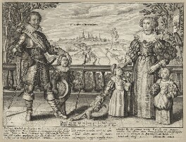 Frederick Henry, Prince of Orange and his family, after Unknown artist - NPG D26453