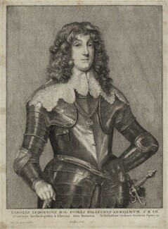 Charles Lewis (Louis), Elector Palatine, by Wenceslaus Hollar, after  Sir Anthony van Dyck, 1646 - NPG D26461 - © National Portrait Gallery, London