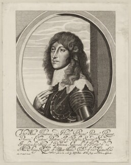 Prince Rupert, Count Palatine, by William Faithorne, published by  Sir Robert Peake, after  Sir Anthony van Dyck - NPG D26473