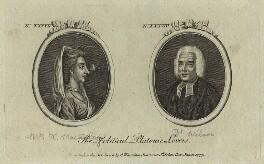 The Political Platonic Lovers (Catharine Macaulay (née Sawbridge); Thomas Wilson), published by Archibald Hamilton Jr, published 10 January 1777 - NPG D32138 - © National Portrait Gallery, London