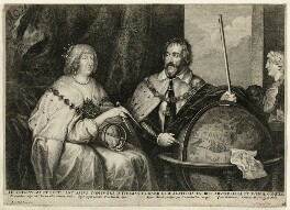 Thomas Howard, 14th Earl of Arundel and his wife Aletheia, by Lucas Vorsterman, after  Sir Anthony van Dyck - NPG D26491
