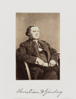 Christian David Ginsburg, by Samuel Alexander Walker - NPG Ax29273