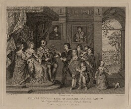 The Howard family, published by John Thane, after  George Vertue, after  Sir Anthony van Dyck - NPG D26495