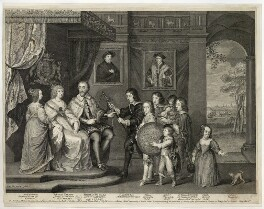 The Howard Family, by George Vertue, after  Sir Anthony van Dyck - NPG D26496