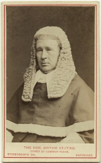 Sir Henry Singer Keating, by London Stereoscopic & Photographic Company, circa 1873 - NPG Ax28444 - © National Portrait Gallery, London