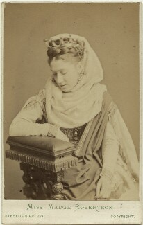 Madge Kendal, by London Stereoscopic & Photographic Company, 1874 or before - NPG Ax28481 - © National Portrait Gallery, London