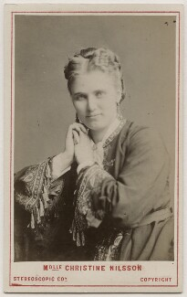 Christine Nilsson, by London Stereoscopic & Photographic Company - NPG Ax28495