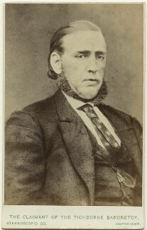 'The Claimant of the Tichborne Baronetcy' (Arthur Orton), by London Stereoscopic & Photographic Company, after  Unknown artist, circa 1871-1874 (mid 1860s) - NPG Ax28420 - © National Portrait Gallery, London