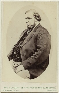 'The Claimant of the Tichborne Baronetcy' (Arthur Orton), by London Stereoscopic & Photographic Company, circa 1871 - NPG Ax28422 - © National Portrait Gallery, London