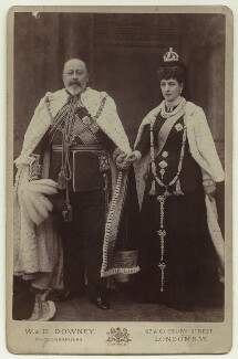 King Edward VII; Queen Alexandra, by William Edward Downey, for  W. & D. Downey - NPG x74700