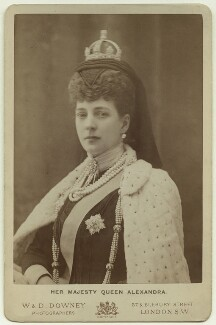Queen Alexandra, by William Edward Downey, for  W. & D. Downey - NPG x36292