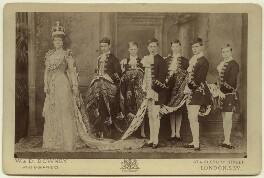 Alexandra of Denmark with her coronation pages, by W. & D. Downey, 9 August 1902 - NPG x33258 - © National Portrait Gallery, London