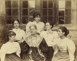 Lady Strachey and daughters, by Graystone Bird - NPG x13111