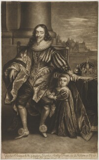 King Charles I; King Charles II, after Sir Anthony van Dyck, published 1680s-1690s (circa 1632-1699) - NPG D32116 - © National Portrait Gallery, London