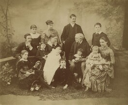 The Strachey family, by Thomas Fall, 1885 - NPG x13110 - © National Portrait Gallery, London