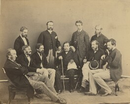 Group of officials, Simla, possibly by Bourne & Shepherd, early 1870s - NPG x129639 - © National Portrait Gallery, London