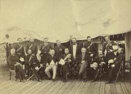 Group of officials, Simla, possibly by Bourne & Shepherd, early 1870s - NPG x129640 - © National Portrait Gallery, London