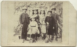 'Arthur, Dolly, Elinor, Kitty, Charlie, Dick', by Unknown photographer, September 1870 - NPG x129642 - © National Portrait Gallery, London